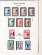 MAROC -  TIMBRES N° 362 A 373 -NEUF AVEC LEGERE CHARNIERE - ANNEE 1956 - COTE 39 € - Maroc (1956-...)