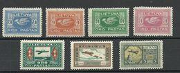 LITAUEN Lithuania 1921 Michel 102 - 108 * - Lithuania