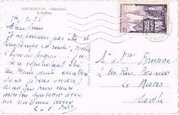 25165. Postal SOURDEVAL (Manche) 1955.  L'Eglise - Francia