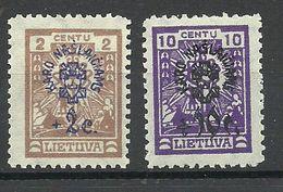 LITAUEN Lithuania 1924 Michel 224 & 227 * - Lithuania