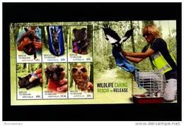 AUSTRALIA - 2010  WILDLIFE CARING RESCUE TO RELEASE  MS MINT NH - Blocchi & Foglietti