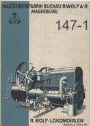 KATALOG: R. Wolf - Lokomobilen 1930? - Catalogues