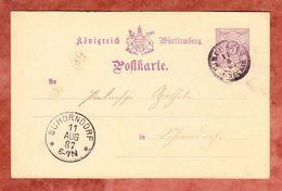 P 26 Ziffer, Kirchheim Neckar Nach Schorndorf, AK-Stempel 1887 (40307) - Wuerttemberg
