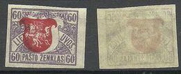 LITAUEN Lithuania 1919 Michel 56 U + ERROR * - Litauen