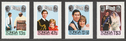 Tonga 1981 Mi# 786-89** ROYAL WEDDING - Tonga (1970-...)