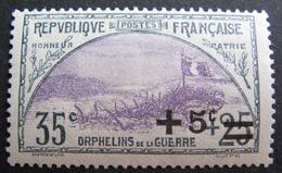 LOT M2269/62 - 1922 - AU PROFIT DES ORPHELINS DE LA GUERRE - N°166 NEUF** - Cote : 35,00 € - Ongebruikt