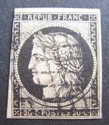 LOT DF/388 - CERES N°3 - GRILLE NOIRE - Cote : 60,00 € - 1849-1850 Cérès
