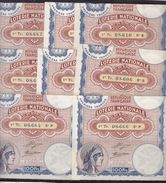 == 8 BILLETS LOTERIE NATIONALE TIRAGE 30  NOVEMBRE 1933 - Billets De Loterie
