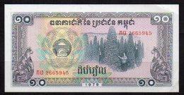550-Cambodge Kampuchea Billet De 10 Riels 1979 MU266 - Cambodia