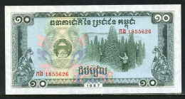 550-Cambodge Kampuchea Billet De 10 Riels 1987 - 185 Neuf - Cambodia
