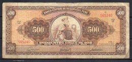 534-Pérou Billet De 500 Soles De Oro 1963 L6 - Peru