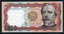 460-Pérou Billet De 5000 Soles De Oro 1985 A259Y Neuf - Pérou
