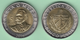 2016-MN-3 CUBA 2016 NEW ISSUE BI-METALIC 5$ CUP ANTONIO MACEO BIMETALICA - Cuba