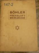 KATALOG: Böhler Pressluftwerkzeuge/1927? - Catalogues