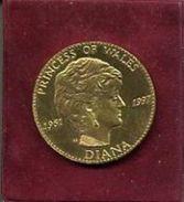 PRINCESS OF WALES  DIANA  1961--1997    Trés Belle Médaille,  à Voir !!! - Royaux/De Noblesse