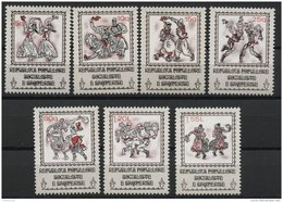 ALBANIA, NATIONAL ENDEAVOR AND DANCES 1977, NH SET - Albania