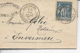 N°90s.s/l LSC Les Grandes Ventes  >> Envermeu T.à.d  Les Grandes Ventes T19  1893 - 1877-1920: Semi-moderne Periode