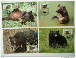 WWF Pakistan Himalayan Black Bear Kragenbär Ours Noir De L'Himalaya 1989 MK MC CM Carte MAximum Maxicard Maximumkarte - Maximumkarten