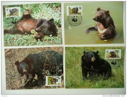 WWF Pakistan Himalayan Black Bear Kragenbär Ours Noir De L'Himalaya 1989 MK MC CM Carte MAximum Maxicard Maximumkarte - Maximum Cards