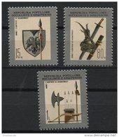 ALBANIA, ARMS OF SKANDERBERG'S ARMY 1977, NH SET - Albania
