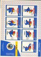 3140a - Feuillet Avec Timbre Coupe Du Monde 1998 En FRANCE (1998) -adhésifs - Frankreich