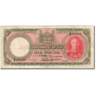 Fiji, 1 Pound, 1937-1951, 1951-06-01, KM:40f, TB - Fidji