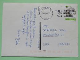 """Slovenia 2001 Postcard """"""""Christmas Nativity"""""""" Ljubljana To Ljubljana - Turjak Castle - Slovenia"""