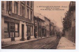 SAINT VALLIER SUR RHONE (26) - HOTEL DE LA POSTE ET DU SAUVAGE RUE JEAN JAURES - Other Municipalities