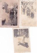 SASSELLO - SAVONA - LOTTO DI TRE PICCOLE FOTO DELL' INVERNO  1941 - Lieux