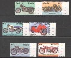B34 LIBERIA TRANSPORTATION MOTOCYCLES 1SET MNH - Motorbikes