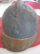 Lot Francais 14 18  Casque Gamelle Pelle - 1914-18