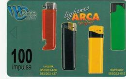 MONTENEGRO - Arca Lighters, SUN Ice Cream, Tirage 50000, 06/01, Sample No Chip And No CN - Montenegro