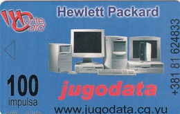 MONTENEGRO - Jugodata/Hewlett Packard, Pilot Pens, Tirage 70000, 06/01, Sample No Chip And No CN - Montenegro