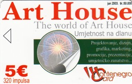 MONTENEGRO - Art House, Tirage 50000, 06/03, Sample No Chip And No CN - Montenegro