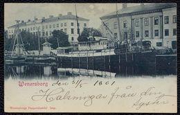 VÄNERSBORG - WENERSBORG --- GREAT VIEW FROM 1901 - RARE - SHIP ** ELFKUNGEN ** - Suède