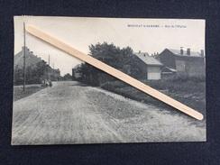 """MONCEAU S/SAMBRE """" Rue De L'Hôpital """" Panorama , Animée ( 1936 ) E. DESAIX - Charleroi"""