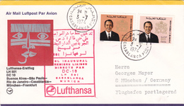 Maroc Lufthansa, Vol Inaugural 1974. - Maroc (1956-...)
