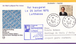 Maroc Lufthansa, Vol Inaugural 1975. - Maroc (1956-...)