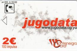 MONTENEGRO - Jugodata/Compaq, Tirage 150000, 06/03, Sample No Chip And  No CN - Montenegro