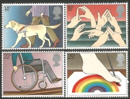 410 G-B Royal Dog Chien Sign Language Langage Signes Handicap Medecine MNH ** Neuf SC (G-GB-225b) - Handicaps