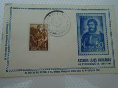 D152342  Hungary   Kossuth Comm. 1944 - Debrecen - Feuillets Souvenir