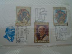 AD029.01   Hungary   LENIN  1968 - Feuillets Souvenir