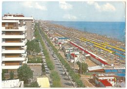 Riccione - Lungomare E Spiaggia - 1972 - Italie
