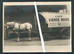Liège. Rare! Attelage  Café Vierge Noire. Winandy, Rue Jean D' Outremeuse. Photo 23,5 X 17. Studio Fraikin Chênée. - Lieux