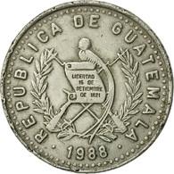 Guatemala, 25 Centavos, 1988, TTB+, Copper-nickel, KM:278.5 - Guatemala