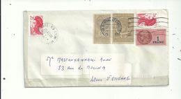 1 L Avec Affranchissement 3 Timbres Fiscaux + 2.20FR..(8/2/88)...EN Réutilisation..(12/11/87)......BIZARRE......à Voir - Fiscale Zegels