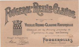 """Etiquette Alcool """"Vieille Reine Claude Naturelle"""" / Distillerie Robert / 70 Fougerolles / Haute Saône - Autres"""