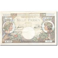 France, 1000 Francs, 1940, 1941-02-06, KM:96b, TTB, Fayette:39.4 - 1 000 F 1940-1944 ''Commerce Et Industrie''