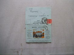 PARIS HOTEL LOUVOIS F. MOLLARD PROPRIETAIRE SQUARE LOUVOIS CARTE LETTRE DU 7 OCT 31 - France