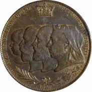 INGLATERRA. REINA VICTORIA. MEDALLA DEL JUBILEO 60 ANIVERSARIO. 1.897. UNITED KINDOM. ENGLAND MEDAL - Monarquía/ Nobleza